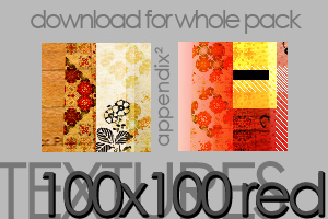 Textures - 100x100 Red Cuts by Pinkly-Icons