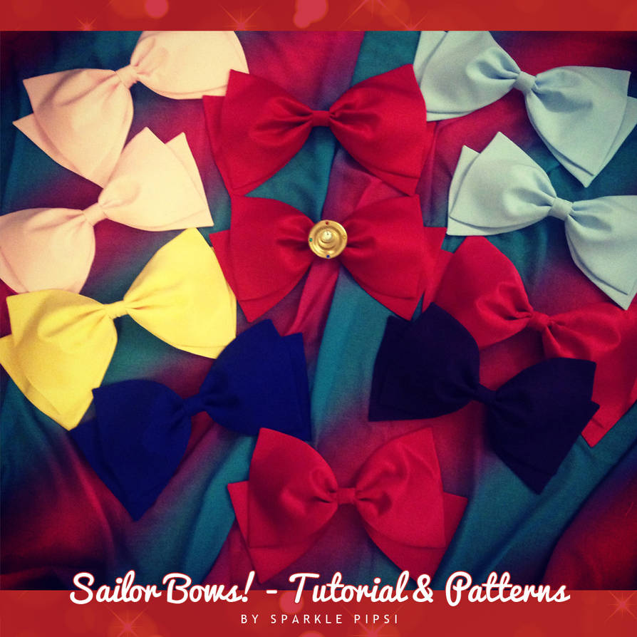 Sailor Bows! - Tutorial and Patterns by SparklePipsi on