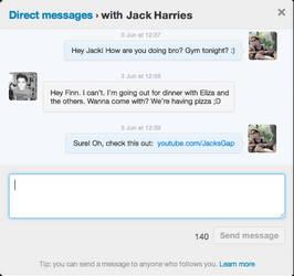 Twitter Direct Message (DM) .PSD