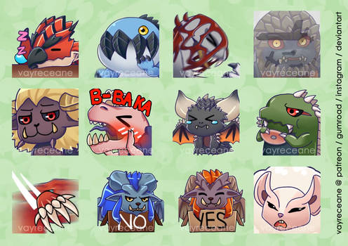 Monster Hunter - Animated Emojis!