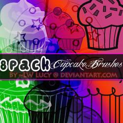 8 Pack cupcake brushes