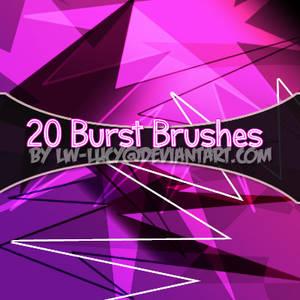 20 burst brushes