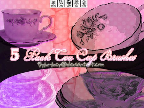 5 Tea Cup Brushes