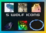 5 Pack Wolf icons
