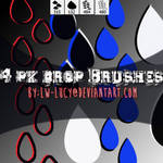 4 Pack Drop Brushes