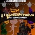 11 pack Halloween Brushes
