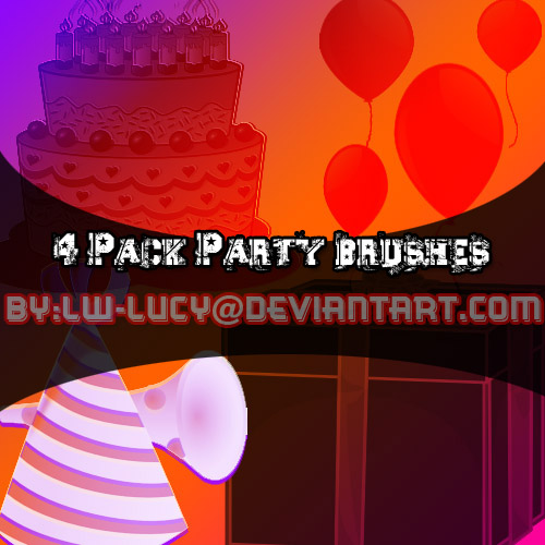 4 Pack Birthday PArty Brushes!