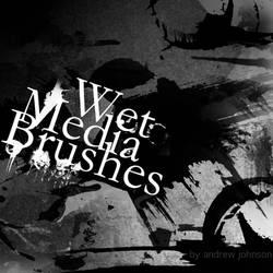 Wet Medium Photoshop Brushes by Fortelegy