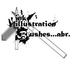 Photoshop Ink Illu. Brush Pack by Fortelegy