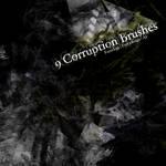 9 Corruption Photoshop Brushes