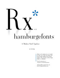 Rx Modern Serif Typeface