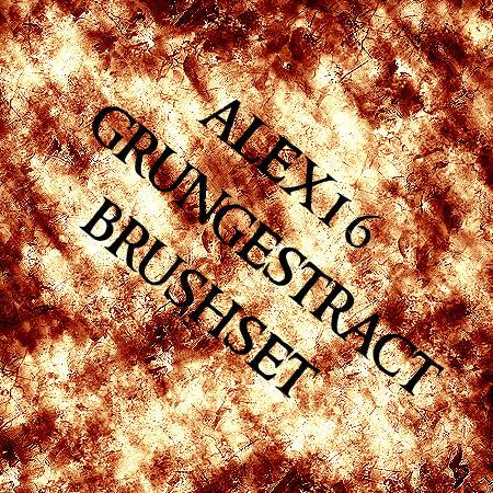 grungestract brushset by alex16
