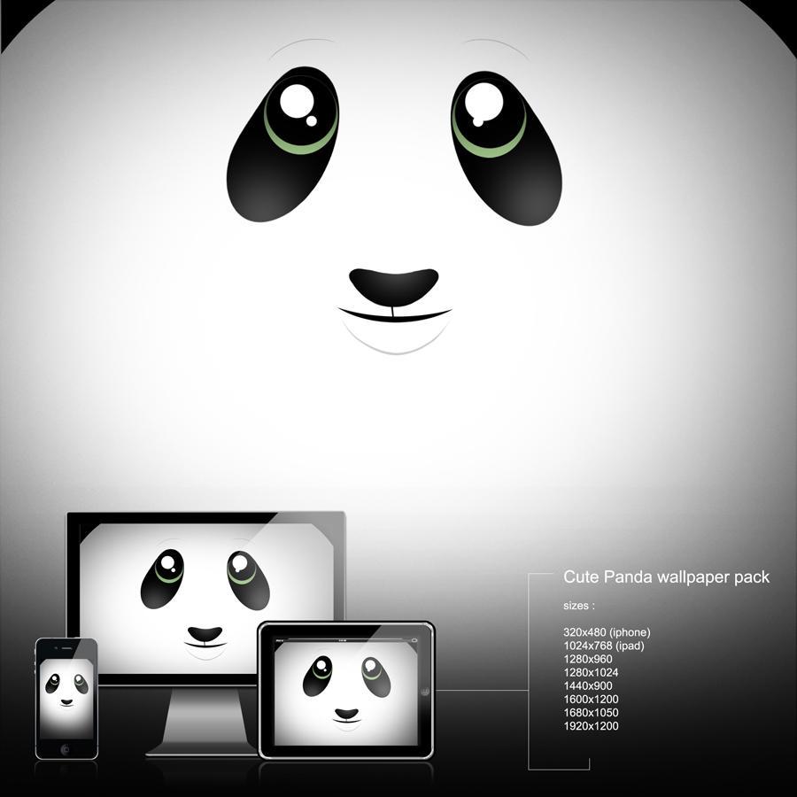 cute panda wallpaper by calincio