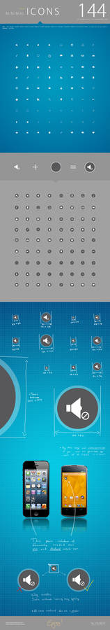 FREE: 144 minimal icons package