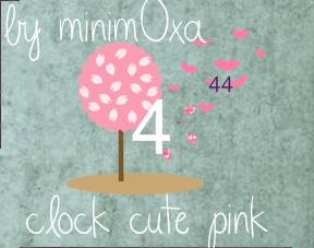Clock Cute Pink Skin For Rainmeter by Minim0xa