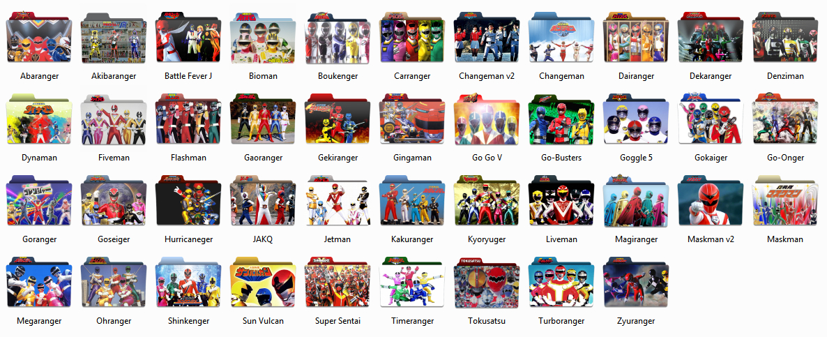 [J-LYRICS] Super Sentai icon pack by timepink