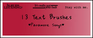 Paramore Text Brushes