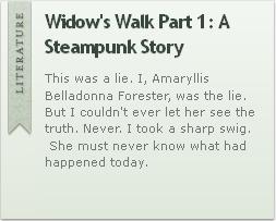 Widow's Walk Part 1: A Steampunk Story by VertFey
