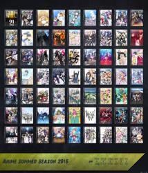 Anime 2016 Summer Season Icon Pack by SkrixX