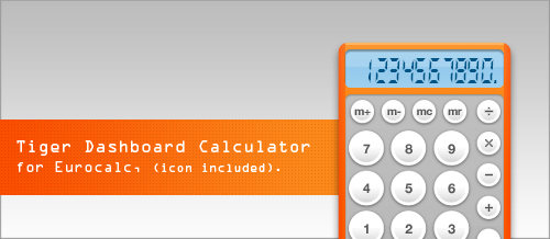 Tiger Dashboard Calculator by whyred