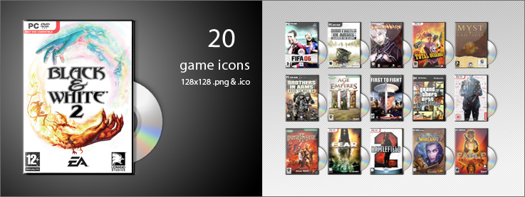 20 game icons by whyred