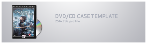 DVD icon template by whyred 20 Free CD & DVD Cases PSD Templates