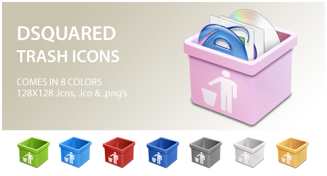 dsquared trash icons by whyred