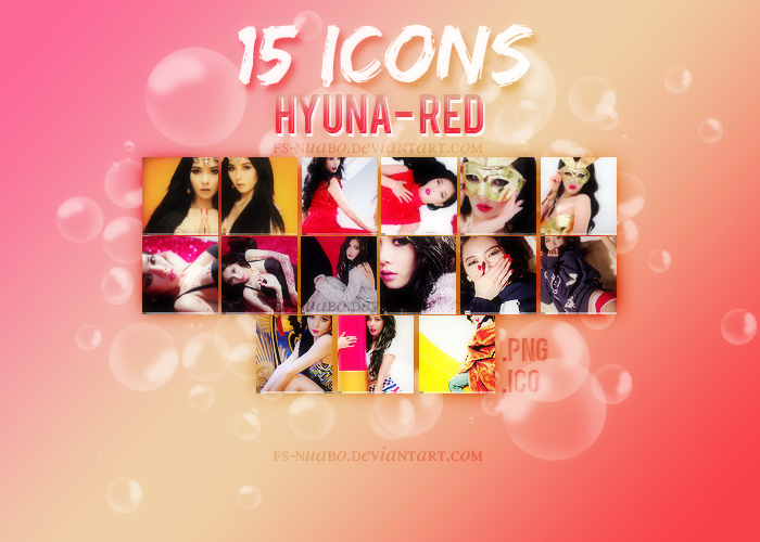 +Hyuna Icons Pack by FS-Nuabo