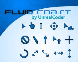 Fluid Coast Cursor Theme