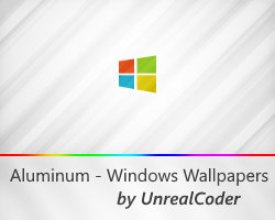 4K Windows Aluminum Wallpapers (14 Colors)