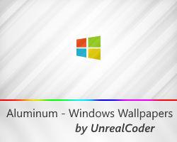 4K Windows Aluminum Wallpapers (14 Colors)