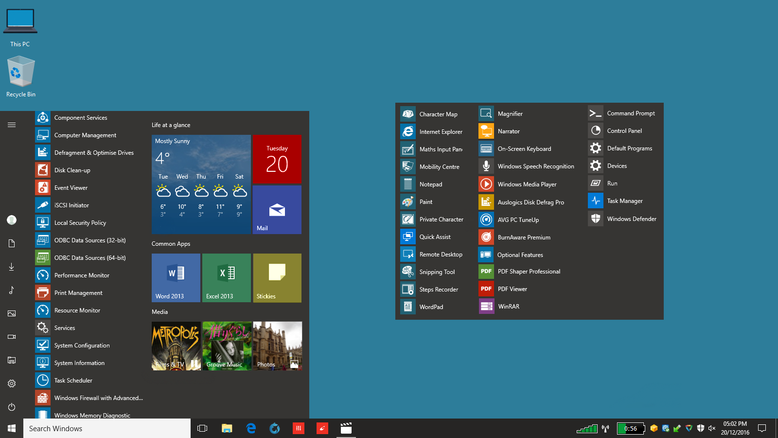 how to add icon to start menu window 10