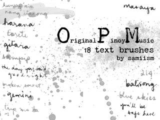 OPM text brushes by silveris