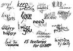 15 Text-brushes for GIMP