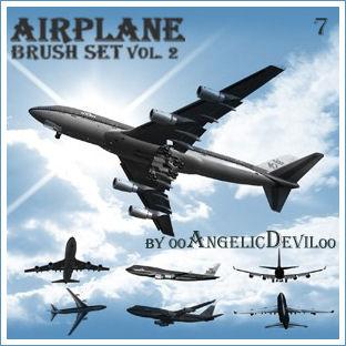 Airplane brush set vol. 2.