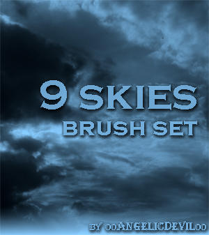 9 Skies brush set for PS by 00AngelicDevil00