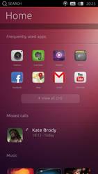 Ubuntu Phone OS - Home PSD
