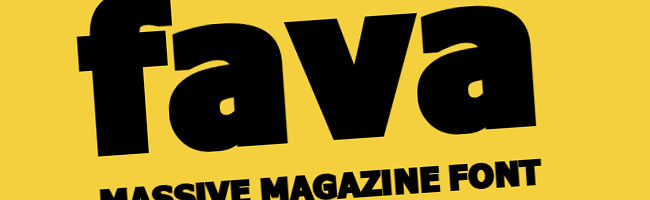 Fava Black - free font