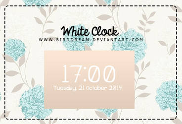 White Clock Rainmeter. by BirdDream