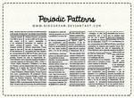 Periodic patterns.