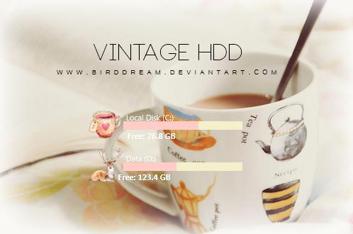 Vintage HDD Rainmeter. by BirdDream