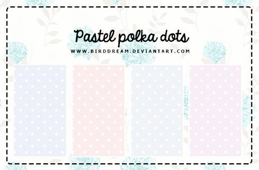 Pastel Polka Dots.
