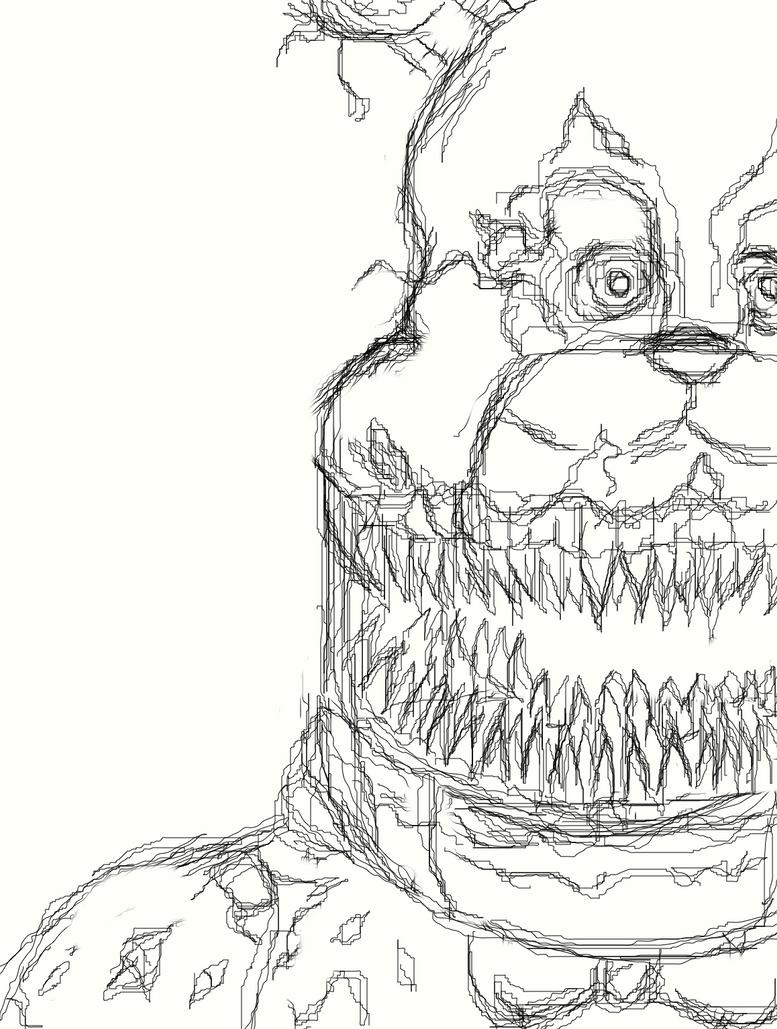 Nightmare Fredbear (Outline) by MrFredbear1983 on DeviantArt