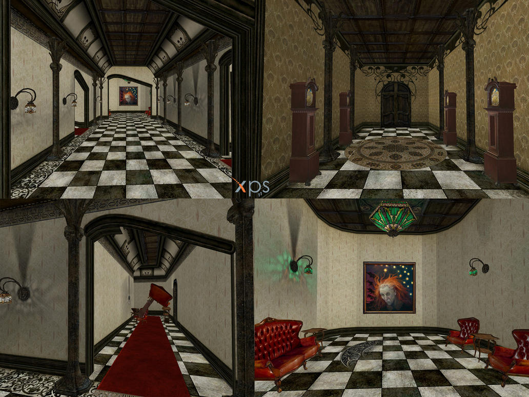 VTMB Grout's mansion hall by PaleVirus