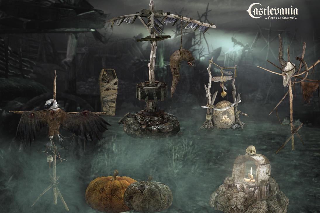 Necropolis props by PaleVirus