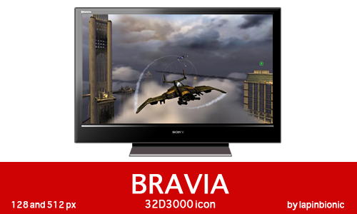 Bravia 32D3000 icon Windows by lapinbionic