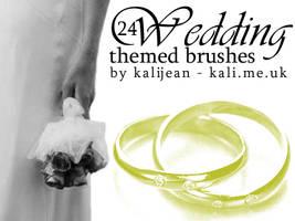 Wedding Theme Brushes by kalijean