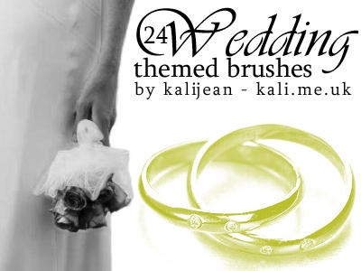 Wedding Theme Brushes by kalijean