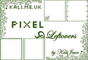Pixel Leftovers:Pixels, Swirls by kalijean