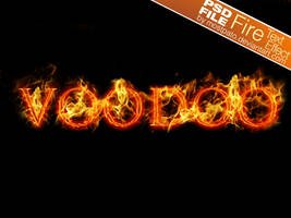 PSD Fire Text Effect by mostpato